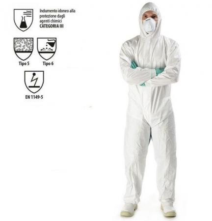 Tuta protettiva CAT 3 Type 5/6 a contenimento biologico Tute protettive